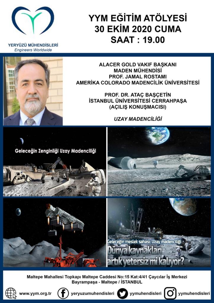 Yeryüzü Mühendisleri Derneği 30 ekim 2020 YYM Etkinliği